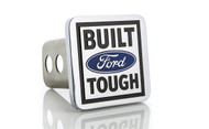 Ford Logo Built Touch Oval Trailer Hitch Cover Plug With Stainless Steel Post