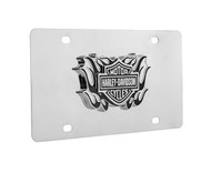 Harley-Davidson® Bar & Shield With Black Flames Emblem License Plate