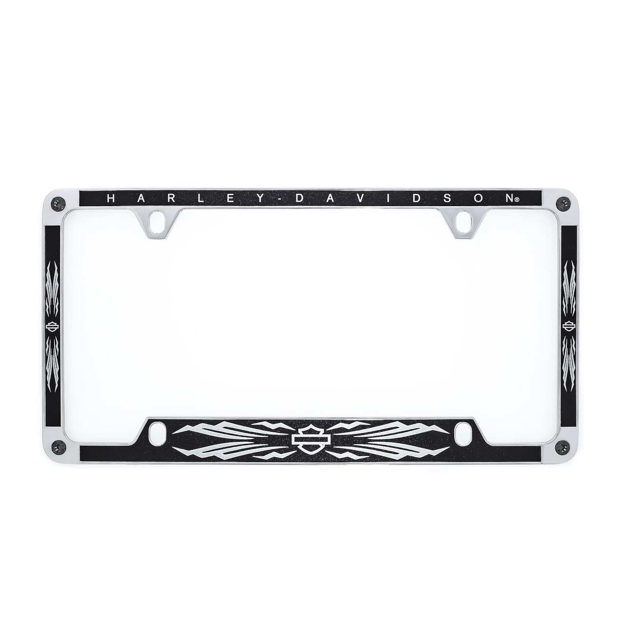 Harley-Davidson® Chrome License Plate Frame With Glitter Satin Black ...