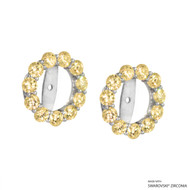 Earring Jacket Made with Swarovski Zirconia (JZ004)