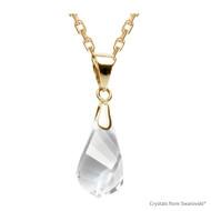 Clear Crystal Helix Necklace Embellished with Swarovski Crystals (NE1G-001)