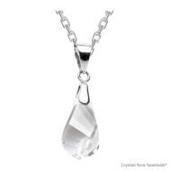 Clear Crystal Helix Necklace Embellished with Swarovski Crystals (NE1R-001)