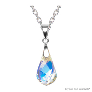 Crystal Aurore Boreale Helix Necklace Embellished with Swarovski Crystals (NE1R-001AB)