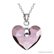 Antique Pink Truly In Love Heart Necklace Embellished with Swarovski Crystals (NE2R-001ANTP)
