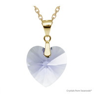 Provence Lavender Xilion Heart Necklace Embellished with Swarovski Crystals (NE3G-283)