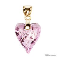 Rosaline Wild Heart Pendant Embellished with Swarovski Crystals (PE4G-508)