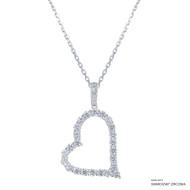 True Your Heart Necklace Made with Swarovski Zirconia