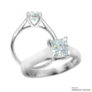 1 Carat White Princess Ring Made with Swarovski Zirconia