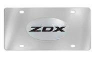 Acura ZDX Officially Licensed Chrome Decorative Vanity Front License Plate