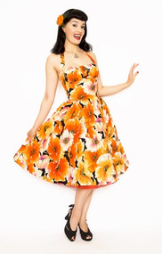 Bernie Dexter Orange Poppy Dress