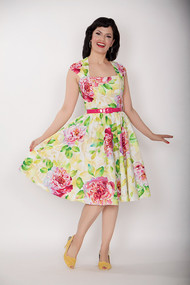 Bernie Dexter Veronique Dress - Blush Cabbage Rose