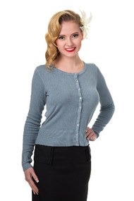 Banned Cardigan Long Sleeve - Dusty Blue