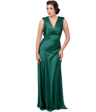 Unique Vintage Harlow Gown - Green