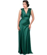 Unique Vintage Harlow Gown - Green