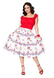 Bettie Page Sea Breeze Skirt - By The Bay