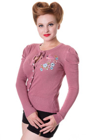 Banned Cardigan Flamingo - Pink