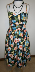 Bluebelle Vintage Sun Dress - Black Tiki