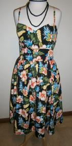 Bluebelle Vintage Sun Dress - Black Tiki
