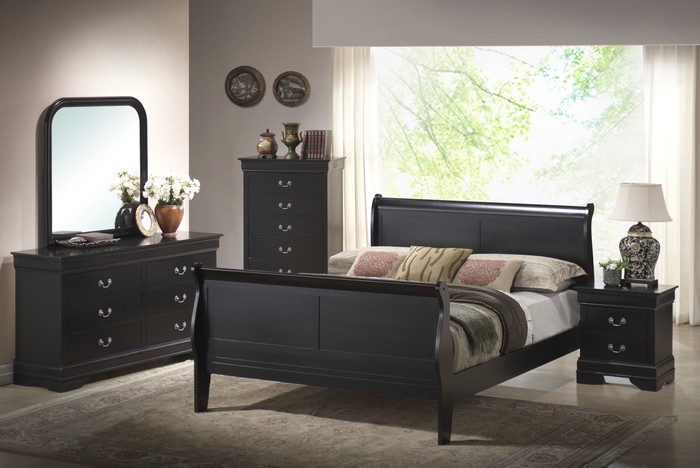 Black Louis Philippe Bedroom