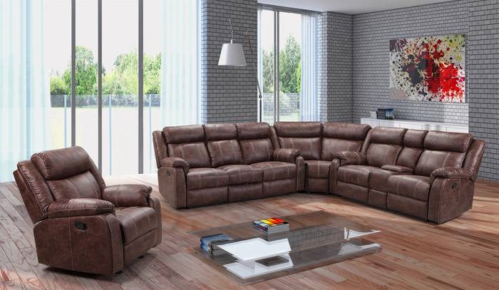Buckskin Reclining 3 Piece Sectional