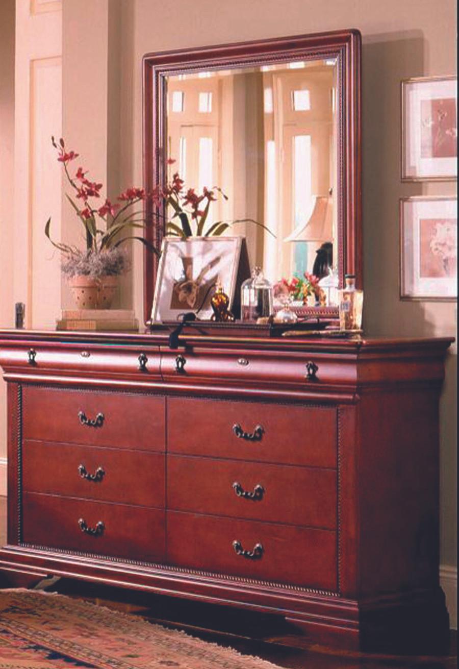 Cherry Louis Sleigh Bedroom