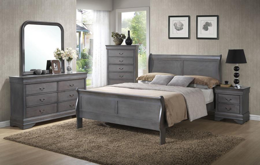 Grey Louis Philippe Bedroom