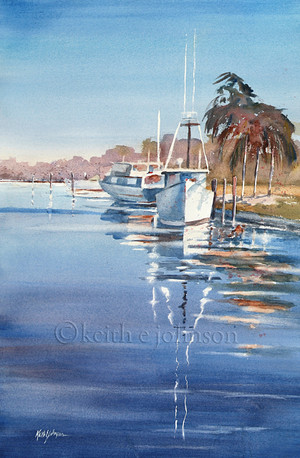 Print of Boat Reflections