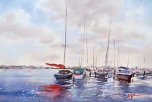 """""""Sail Boat in Naples"""" print"""