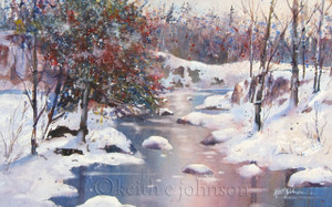 """Giclee prints of """"Winter River"""""""