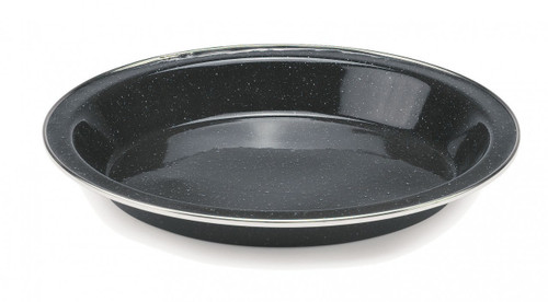 Enamelware with Stainless Steel Rim 25cm Deep Plate
