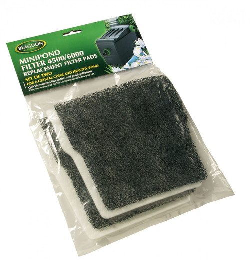 MiniPond 4500/6000 Filter Carbon & Wool Replacement 2  pack