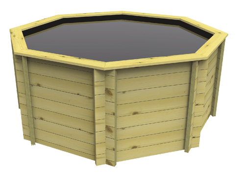 Octagonal Wooden Fish Pond - 8ft