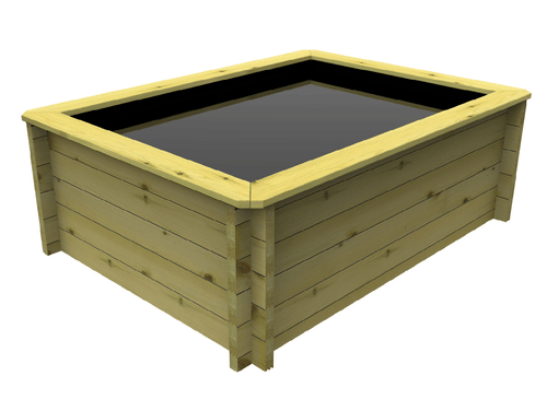 2M X 1M  Rectangle Wooden Fish Pond