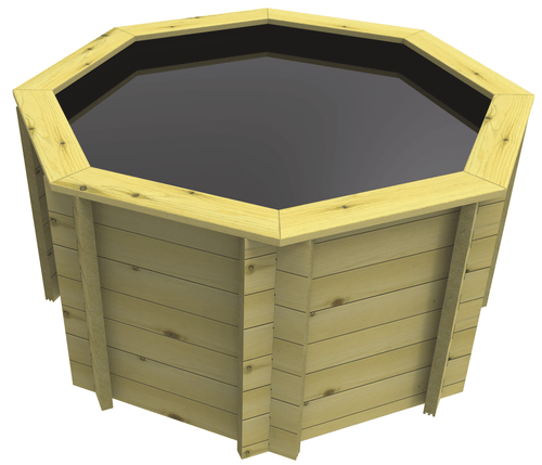 Octagonal Wooden Fish Pond - 4ft