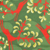 Fabric close-up - Christmas Reindeer design in Holly Green / Red.