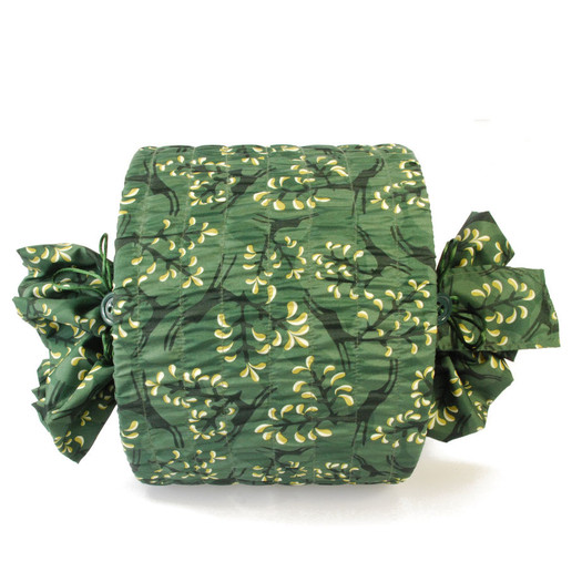 Medium Stretch fabric wrap in Holly Green / Gold.  Used here to wrap a lampshade (H23cm x Diameter 30cm).