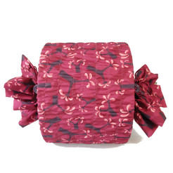 Medium Stretch fabric wrap in Raspberry.  Used here to wrap a lampshade.
