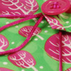 Medium Crackle fabric wrap - Christmas Winter Trees print in Neon Pink.  Close-up.