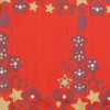 Fabric close-up - Starry Trees print in Cranberry Red.