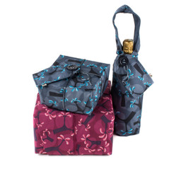 A medium and large Crackle Wrap, plus a Bottle Bag