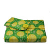 Small Crackle fabric wrap in Neon Yellow.  Shown wrapping a paperback novel.