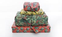 Range of Crackle fabric gift wrap