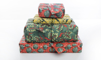 Range of Crackle fabric gift wrap