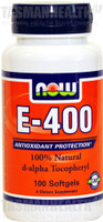 NOW Foods E-400 d-alpha Tocopheryl
