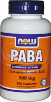 NOW Foods PABA 500mg