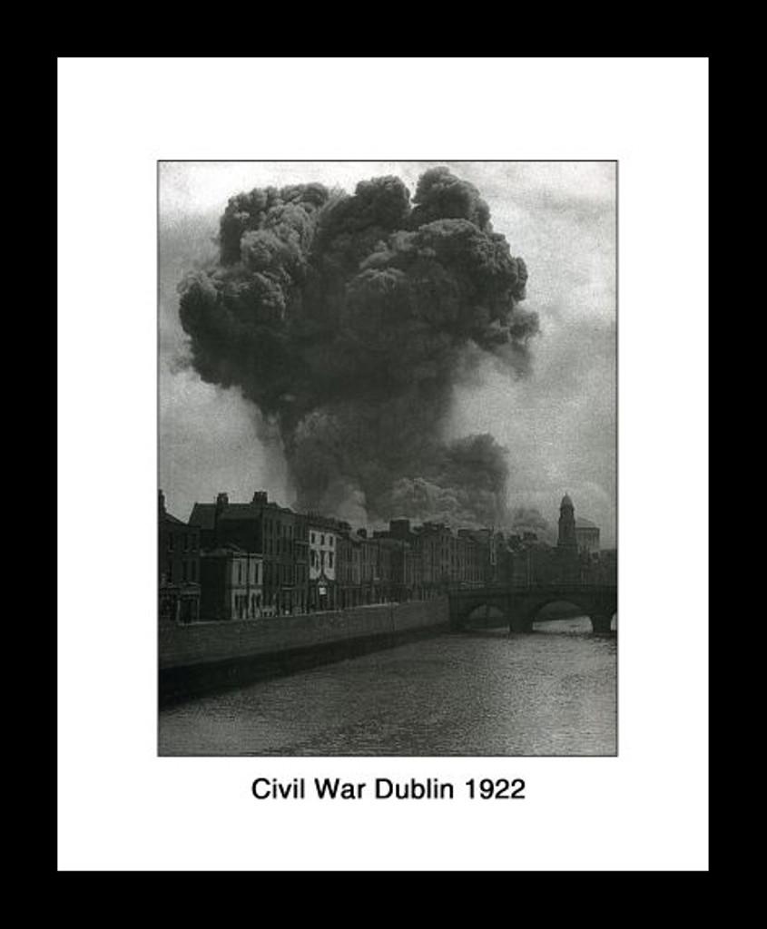 Civil War Dublin 1922 Framed Picture
