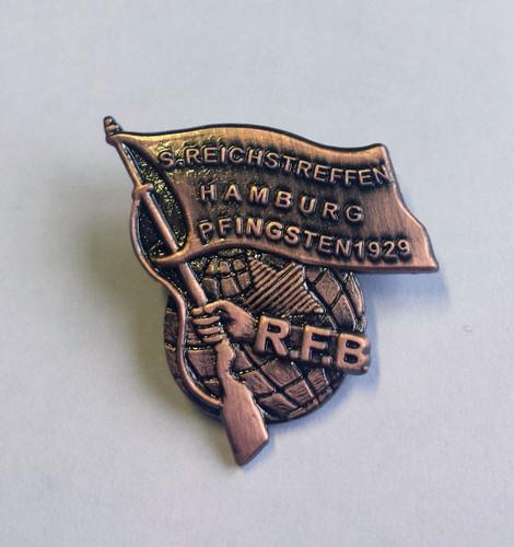 Rotfrontkämpferbund 3D 1929 badge