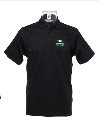 Revolution 1916 Black Polo Top