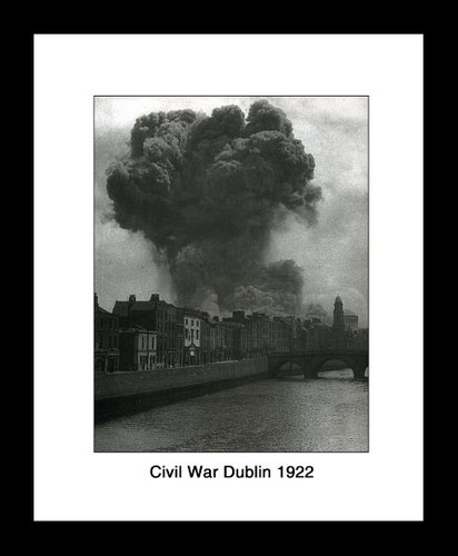 Civil War Dublin 1922 Framed Picture