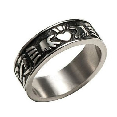 Image of Men's Claddagh Irish Celtic Ring (Heart & Crown) - Top Quality Steel Commitment Ring